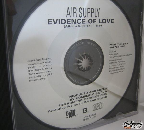 Evidence Of Love Promo CD Single US Release.JPG
